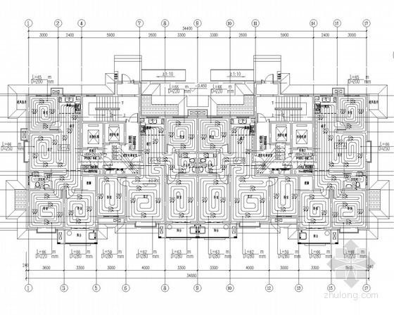 [河北]高层住宅楼采暖通风系统设计施工图(含人防设计)