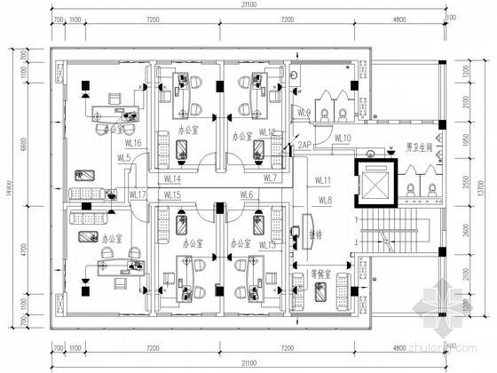 办公大楼电气施工设计图纸