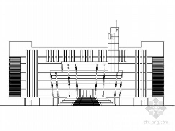 [云南]某中学七层图书馆方案设计图