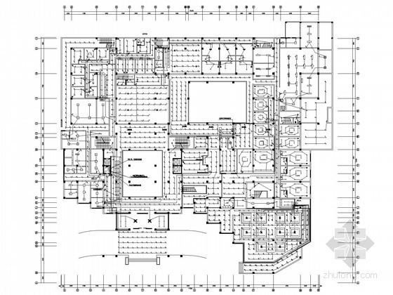 [山东]十九层五星级大酒店全套电气施工图纸(含地下室)