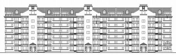 [长春]某欧式花园住宅小区住宅楼群建筑施工图
