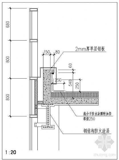 钢结构屋面节点-女儿墙1