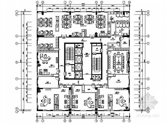 [重庆]某现代简约酒店办公室室内精装修设计施工图