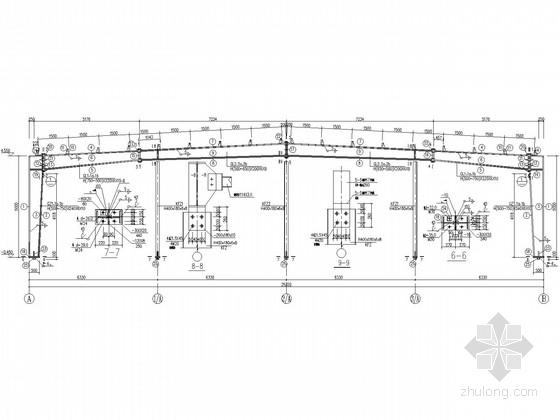 [河南]服装厂食堂门式刚架结构施工图