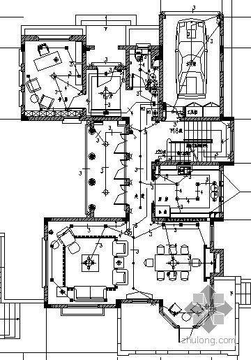 某二层山林别墅酒店装修电气图纸