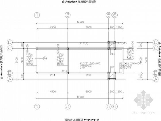 条形基础,单层砖混门卫结构施工图