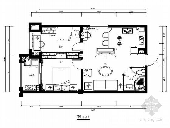 [福建]商业住宅区简欧两居室样板房装修图(含效果)