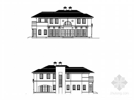 两层西式风格别墅建筑施工图