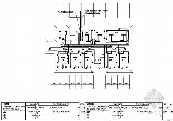 湖北某卫生院住院部强电施工图