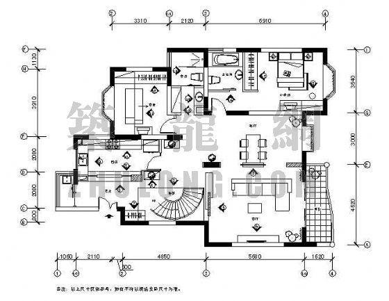 某复式公寓装修图