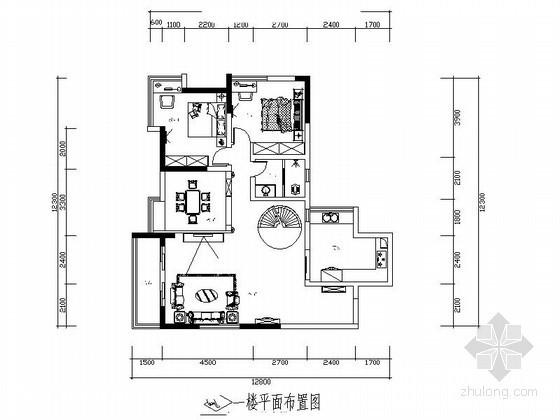 顶楼花园公寓室内装修图(含效果)