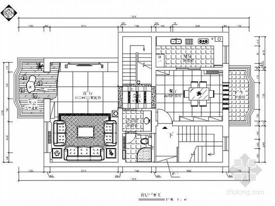 [石家莊]某城市花園復式設計裝修圖(含效果圖)