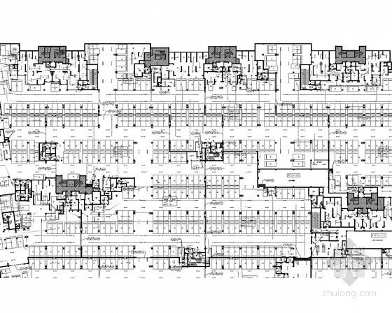 [安徽]大型高层住宅小区强弱电电气施工图379张(新火规 新照明 地下)