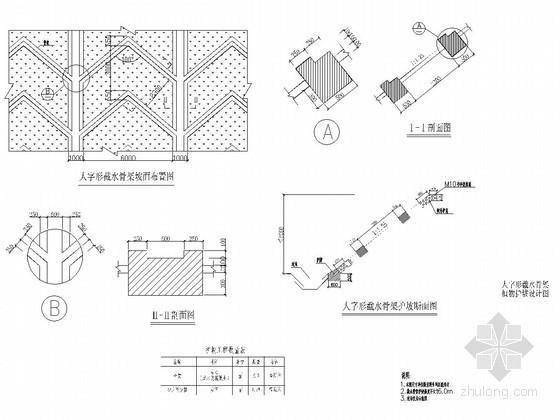 混凝土方格骨架护坡图资料下载-城市道路护坡设计图集