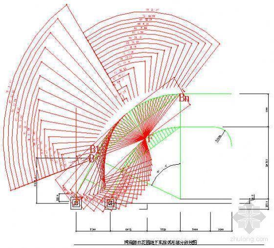 微机和测量仪器在无圆心螺旋车道放线中应用