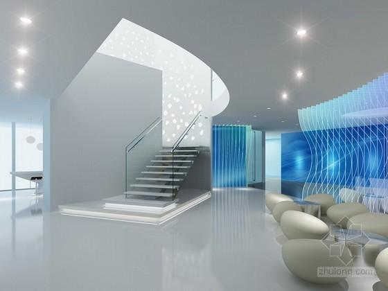 办公楼门厅3d模型下载