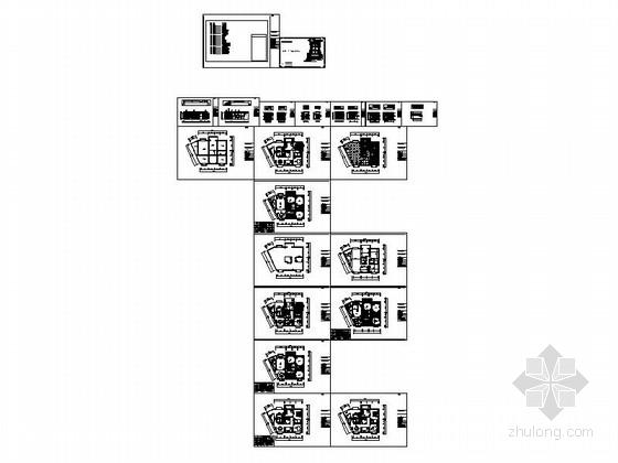 [安阳]风景秀丽小高层现代三居室装修施工图资料图纸总缩略图