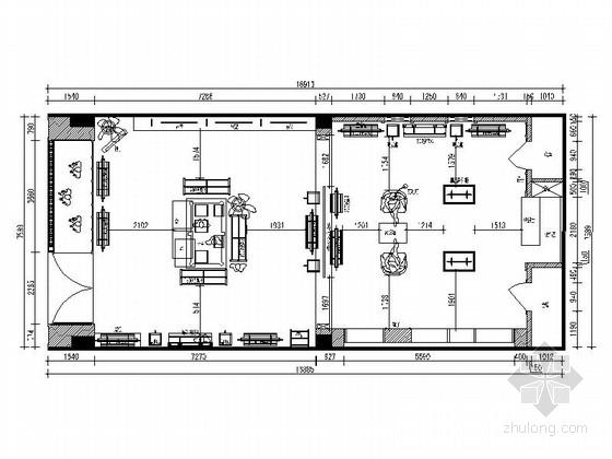 [浙江]现代风格服装店装修CAD施工图(含效果图)