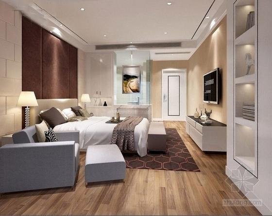 现代四居室住宅室内装修效果图