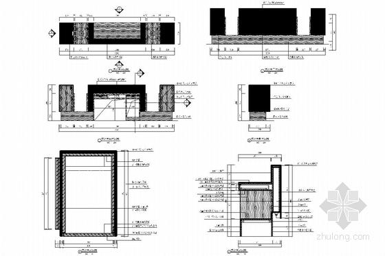 [南昌]大型房地产开发公司售楼处大厅装修图(含效果图) 接待图详图