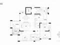 [重庆]花园洋房法式风格三居室样板间软装设计方案