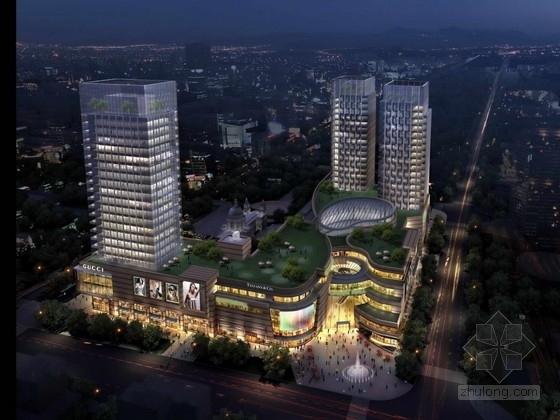 [浙江]高档现代风格多层次商业综合体建筑设计方案文本(知名地产)
