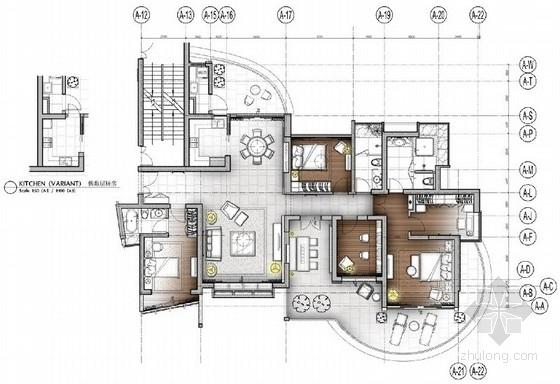 [深圳]一线海景澳式现代公寓装修设计方案