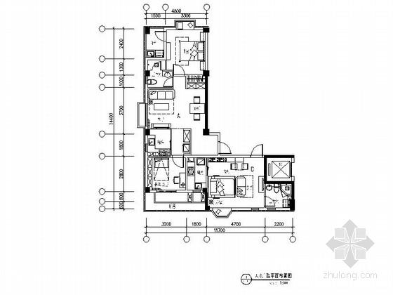 [合肥]英伦风情社区时尚现代青年公寓装修施工图