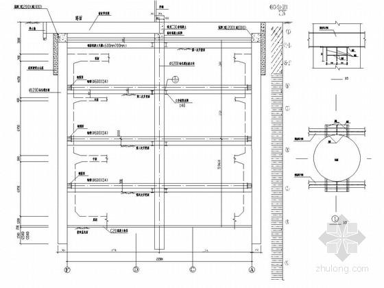 [广东]轨道交通车站基坑桩撑围护结构施工图