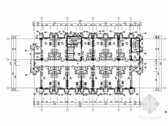 内蒙古17层公寓GRC幕墙施工方案图纸-2#十五层平面图