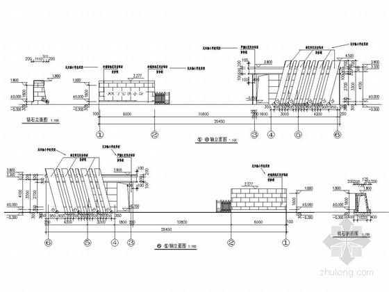 [大同]实验小学大门结构施工图(含建筑图)