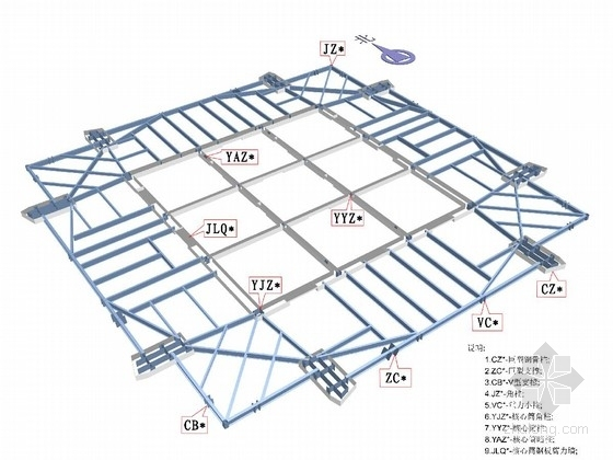 118层带外伸臂的混合结构办公大厦钢结构深化图纸(588米 含临水临电)