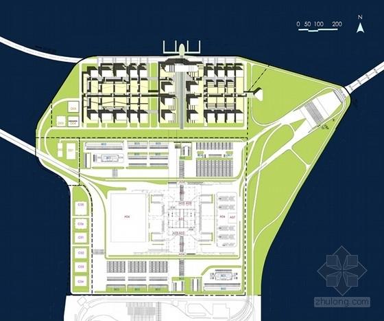 大型交通枢纽及多功能综合区规划方案首层平面图
