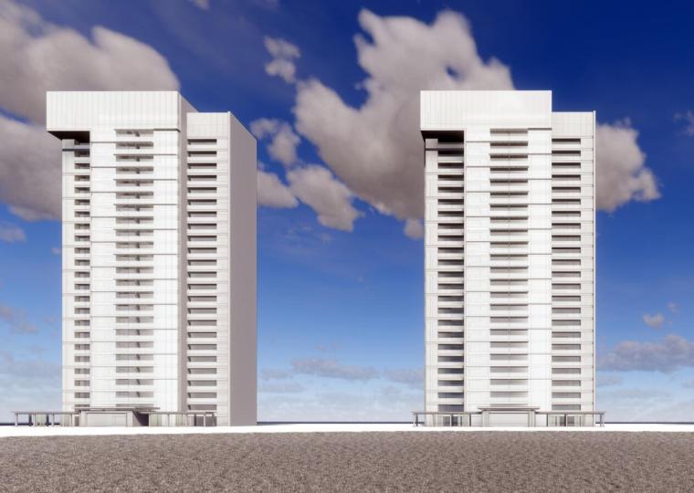 [山东]济南华润现代高层豪宅建筑模型设计(2018年)