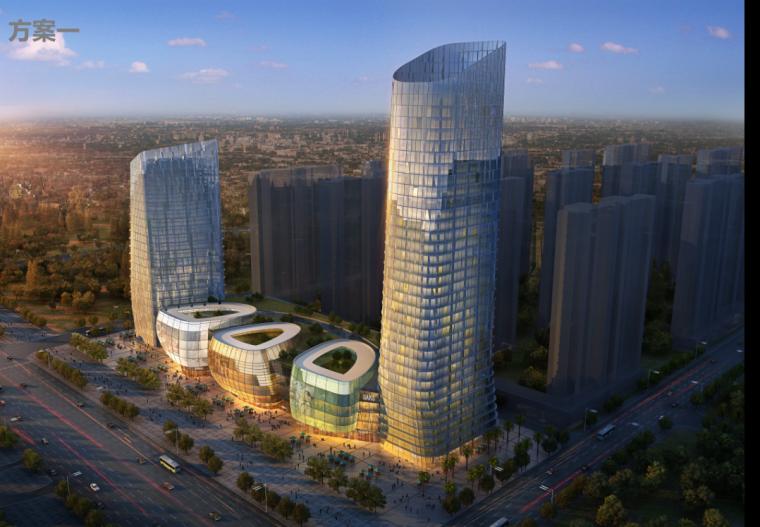 [武汉]超高层保利地产商业综合体建筑设计方案文本(含3套方案)
