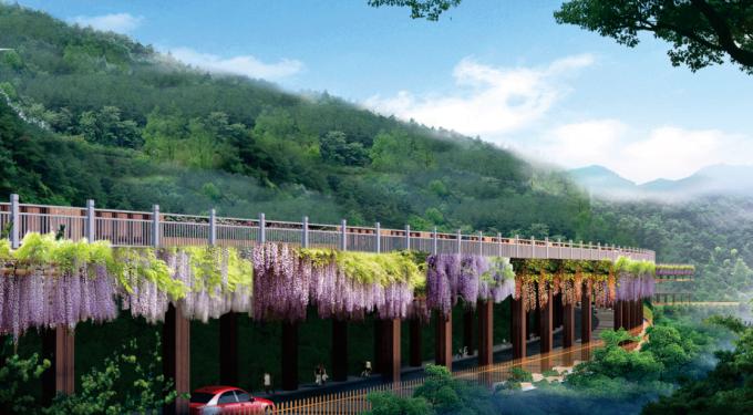 [贵州]特色紫荆花带道路景观规划设计方案