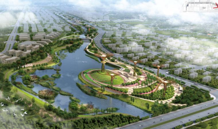 [河南]郑州梅河景观河道规划设计(PDF+128页)-模型校园