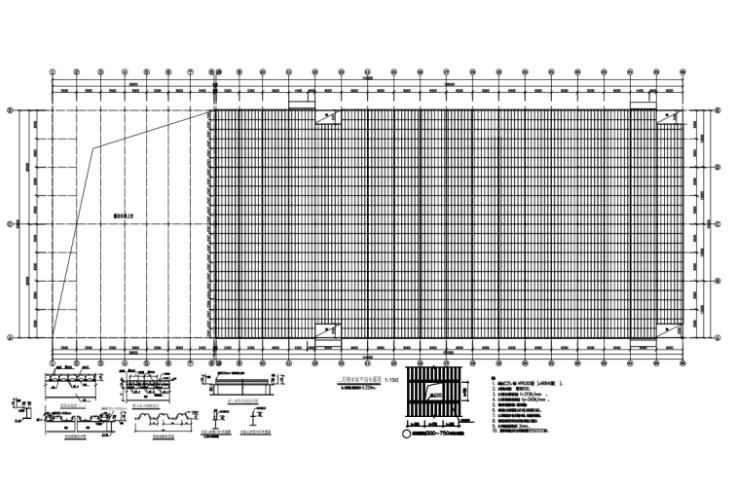 钢承板两层门式钢架厂房结构施工图(CAD,28张)