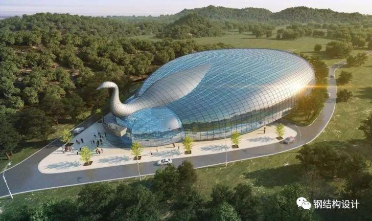 朱雀山热带雨林馆钢结构施工完成,盘点国内奇奇怪怪的建筑
