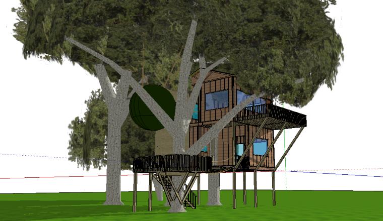 74套树屋·小木屋SU模型11-20