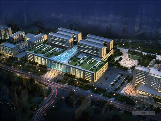 [重庆]现代风格大型附属医院建筑设计方案文本