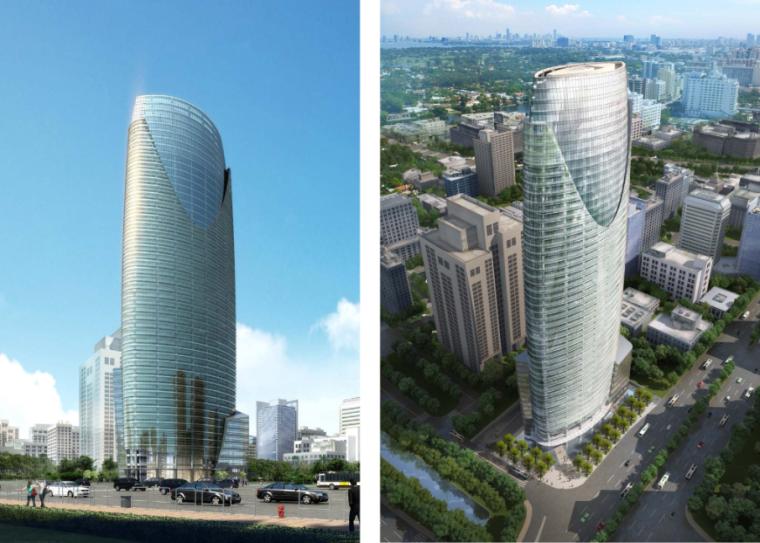 圆筒造型现代风格超高层办公楼建筑设计方案文本