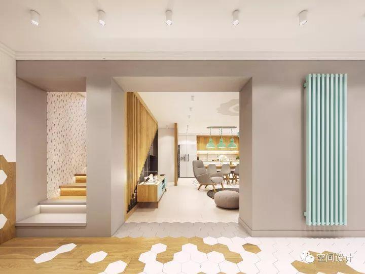 设计师太会用色了,三层普通宅装出了高级感,比豪宅美多了