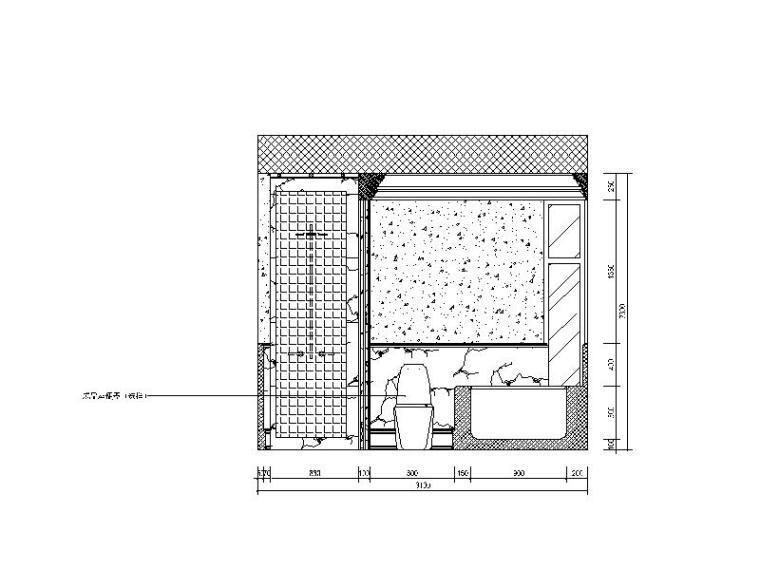 [重庆]欧式别墅风格建筑CAD施工图(含效果图)cad徒手线画图片