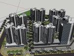 [北京]现代风格高层小区建筑模型设计