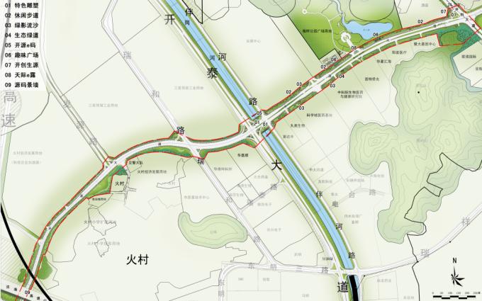 """[广东]""""源代码""""科技创意生态道路景观改造设计方案_10"""