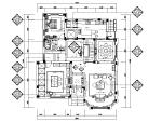 【江苏】欧式风格别墅设计CAD施工图(含效果图)