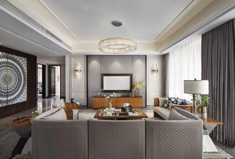 240㎡珍稀优雅豪宅软装设计,创造引领新都市的优质生活空间!_3