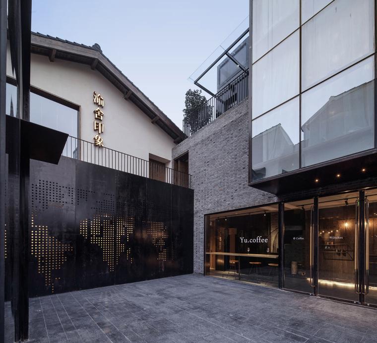 上海原招待所改造的新中式渝舍印象酒店外部实景图 (1)