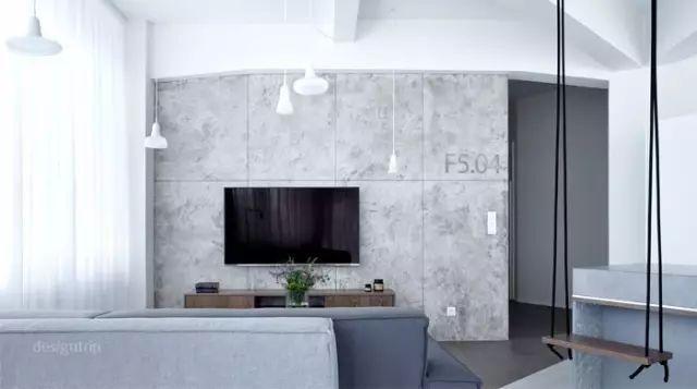 水泥电视墙,要个性就做吧